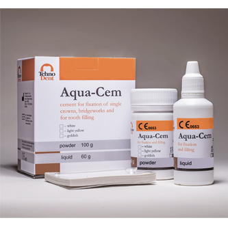 Aqua-Cem – For fixation and filling (white, light yellow, goldish)