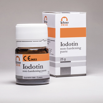 Iodotin – For treatment of pulpitis and all forms of periodontitis. Non-hardening paste in jar