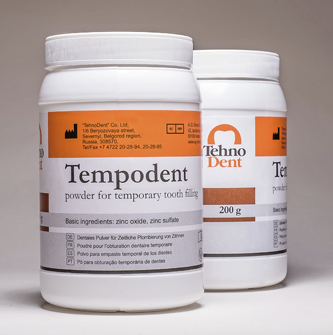 Tempodent – For temporary tooth filling. Powder